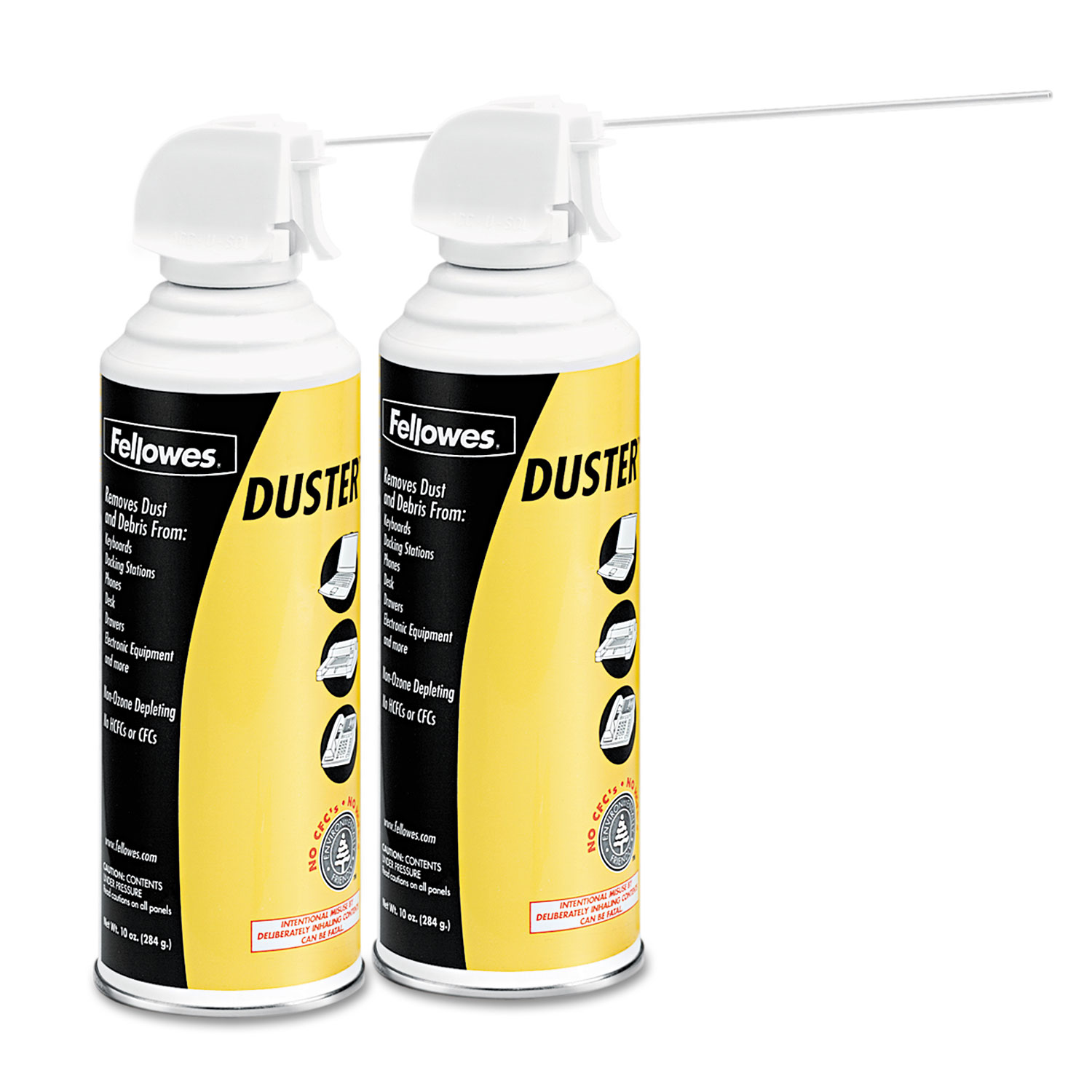 Air Duster, 152A Liquefied Gas, 10oz Can, Two Per Pack