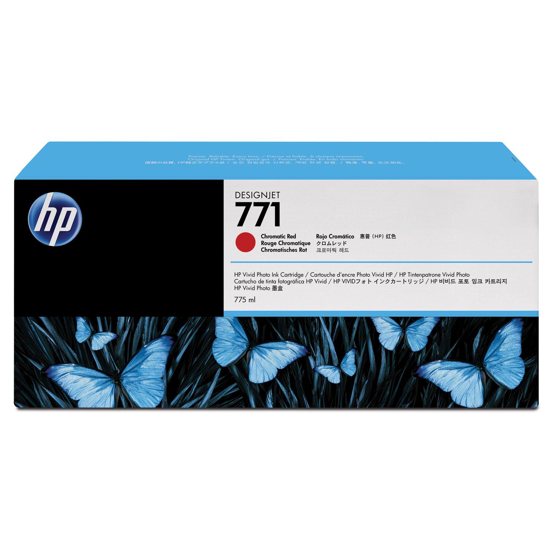 HP 771, (B6Y40A) 3-pack Red Original Ink Cartridges
