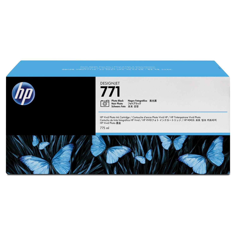 HP 771, (B6Y45A) 3-pack Photo Black Original Ink Cartridges
