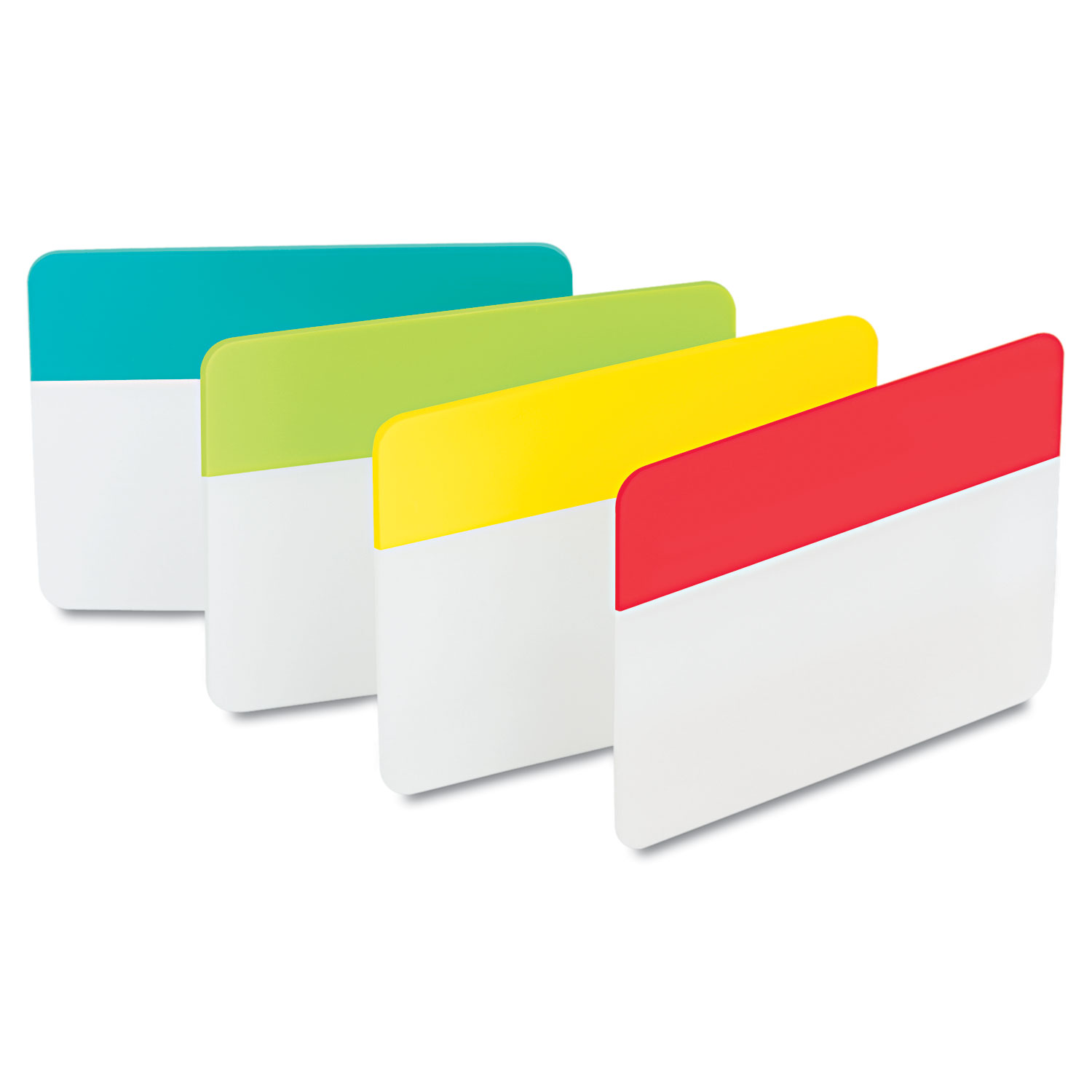"""2"""" and 3"""" Tabs, 1/5-Cut Tabs, Assorted Colors, 2"""" Wide, 24/Pack"""