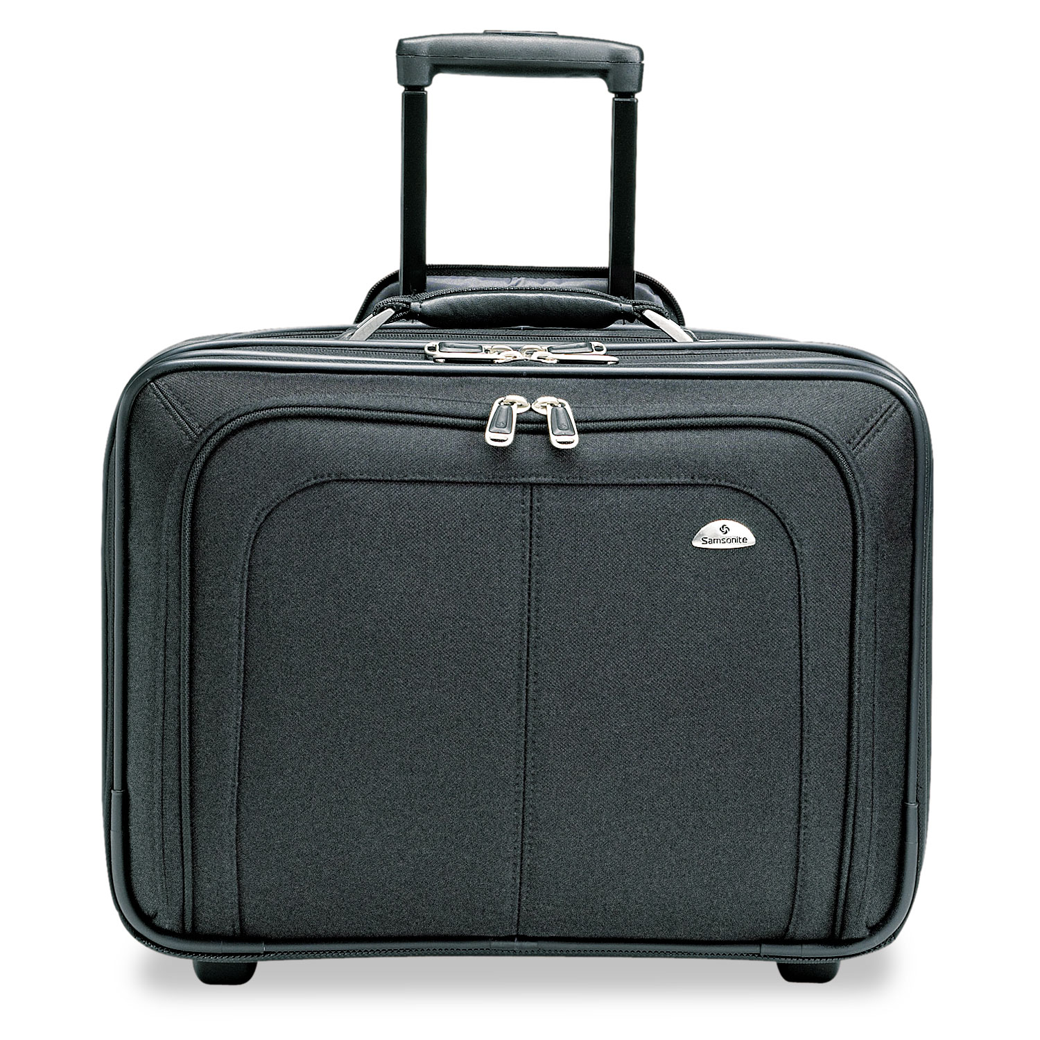 Mobile Office Rolling Notebook Case, Nylon, 17 1/2 x 9 x 14, Black