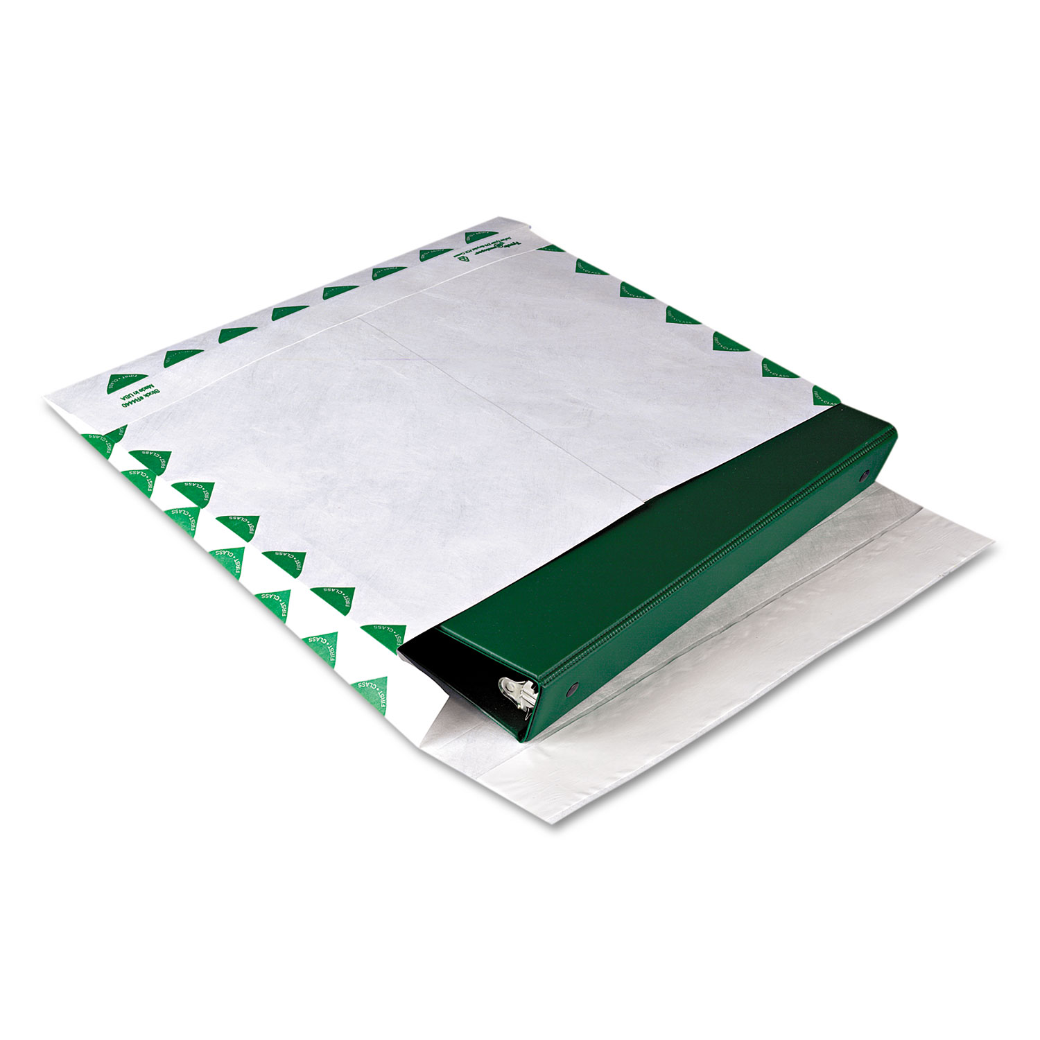 Open Side Expansion Mailers, DuPont Tyvek, #13 1/2, Cheese Blade Flap, Redi-Strip Closure, 10 x 13, White, 100/Carton