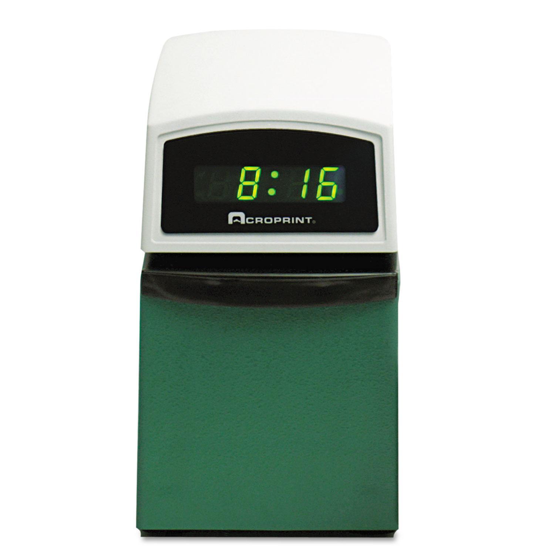 Acp016000001 Acroprint Etc Digital Automatic Time Clock Zuma