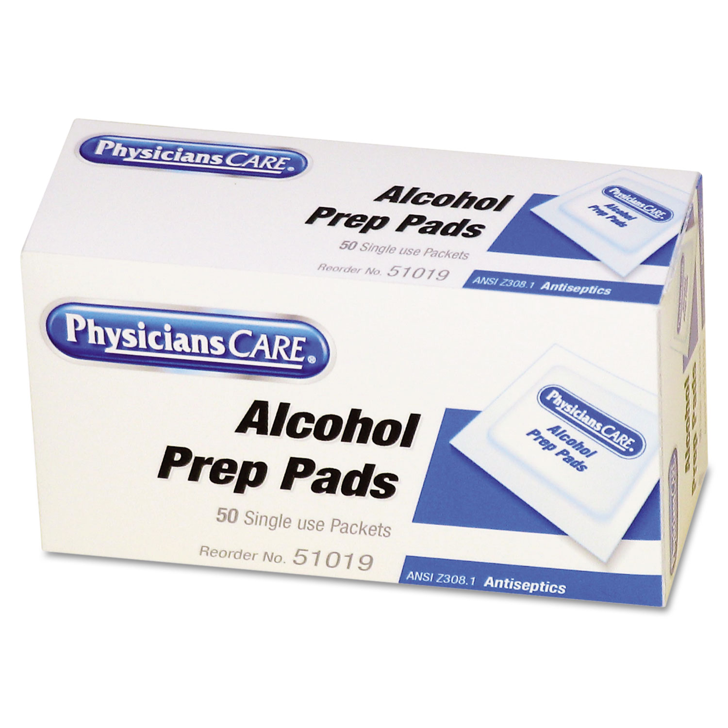 First Aid Alcohol Pads By Physicianscare Only Alkohol Swab Fao51019 Thumbnail 1