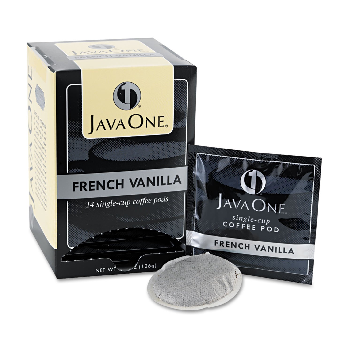 Coffee Pods, French Vanilla, Single Cup, 14/Box