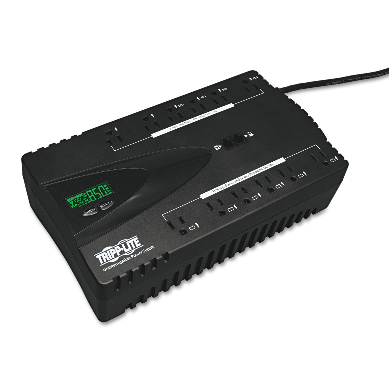 ECO Series Energy-Saving Standby UPS, USB, LCD Display, 12 Outlets, 850 VA, 420J