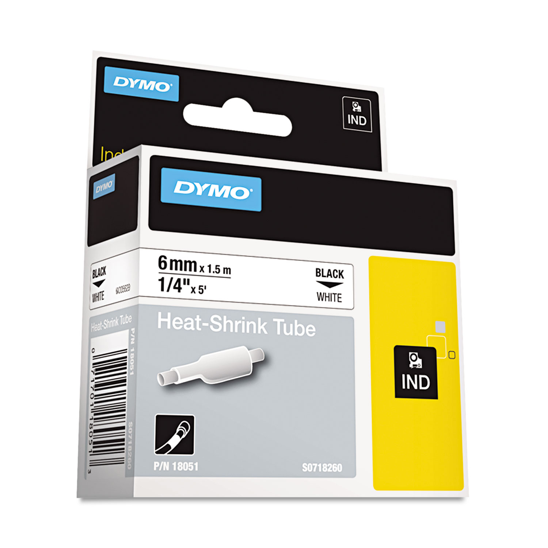 "3//8/"" x 18 ft White//Black Dymo DYM18482 Rhino 4200 Poly Industrial Label Tape"