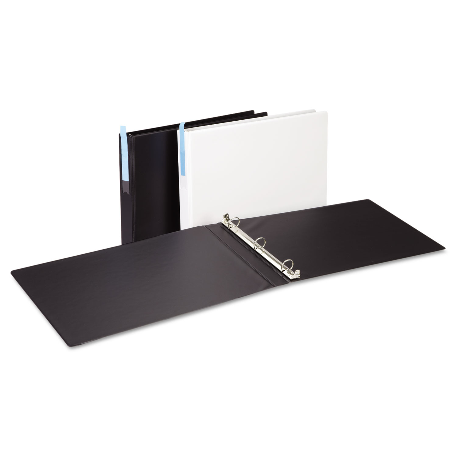 Check Out Ledger-Size Round Ring Binder With Label Holder