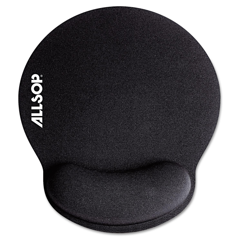 MousePad Pro Memory Foam Mouse Pad with Wrist Rest, 9 x 10 x 1, Black