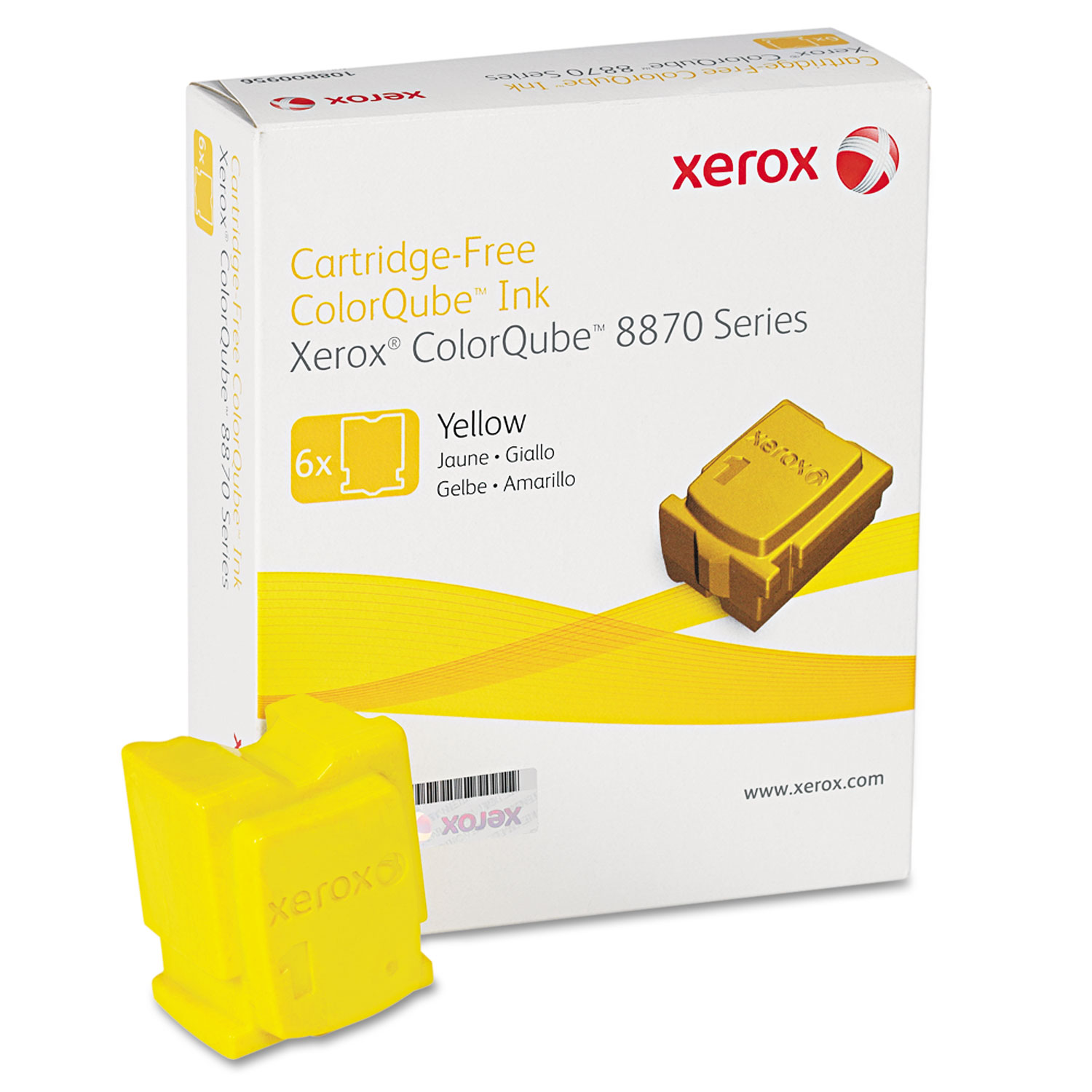108R00952 Solid Ink Stick, 17300 Page-Yield, Yellow, 6/Box