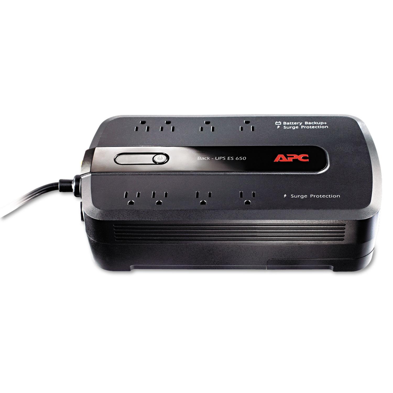 BE650G1 Back-UPS ES 650 Battery Backup System, 8 Outlets, 650VA, 365 J