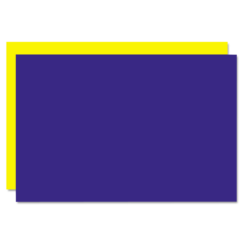Too Cool Foam Board, 20x30, Blue/Yellow, 5/Carton