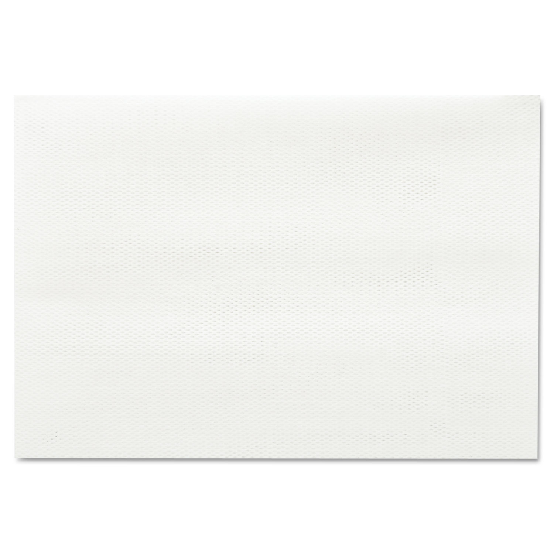 Masslinn Shop Towels, 12 x 17, White, 100/Pack, 12 Packs/Carton
