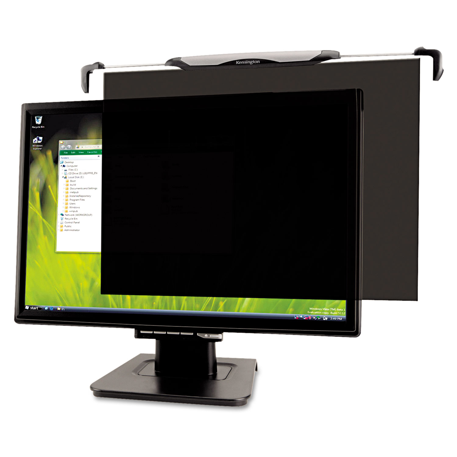 """Snap 2 Flat Panel Privacy Filter for 20""""-22"""" Widescreen LCD Monitors"""