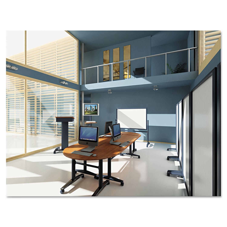 Height-Adjustable Flipper Table Top, Rectangular, 72w x 24d, Mahogany