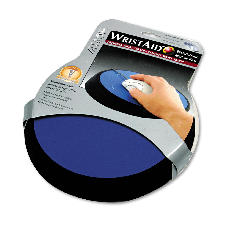 wrist aid ergonomic circular mouse pad by allsop asp26226
