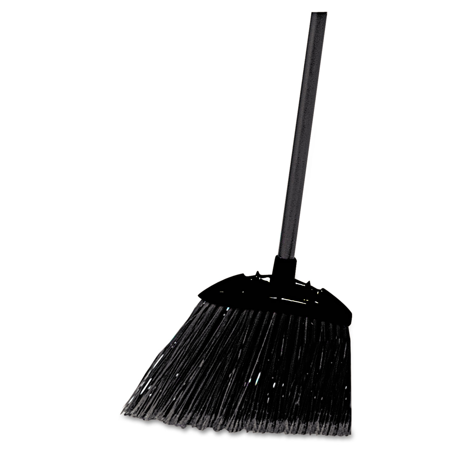 "Lobby Pro Broom, Poly Bristles, 35"", with Metal Handle, Black"