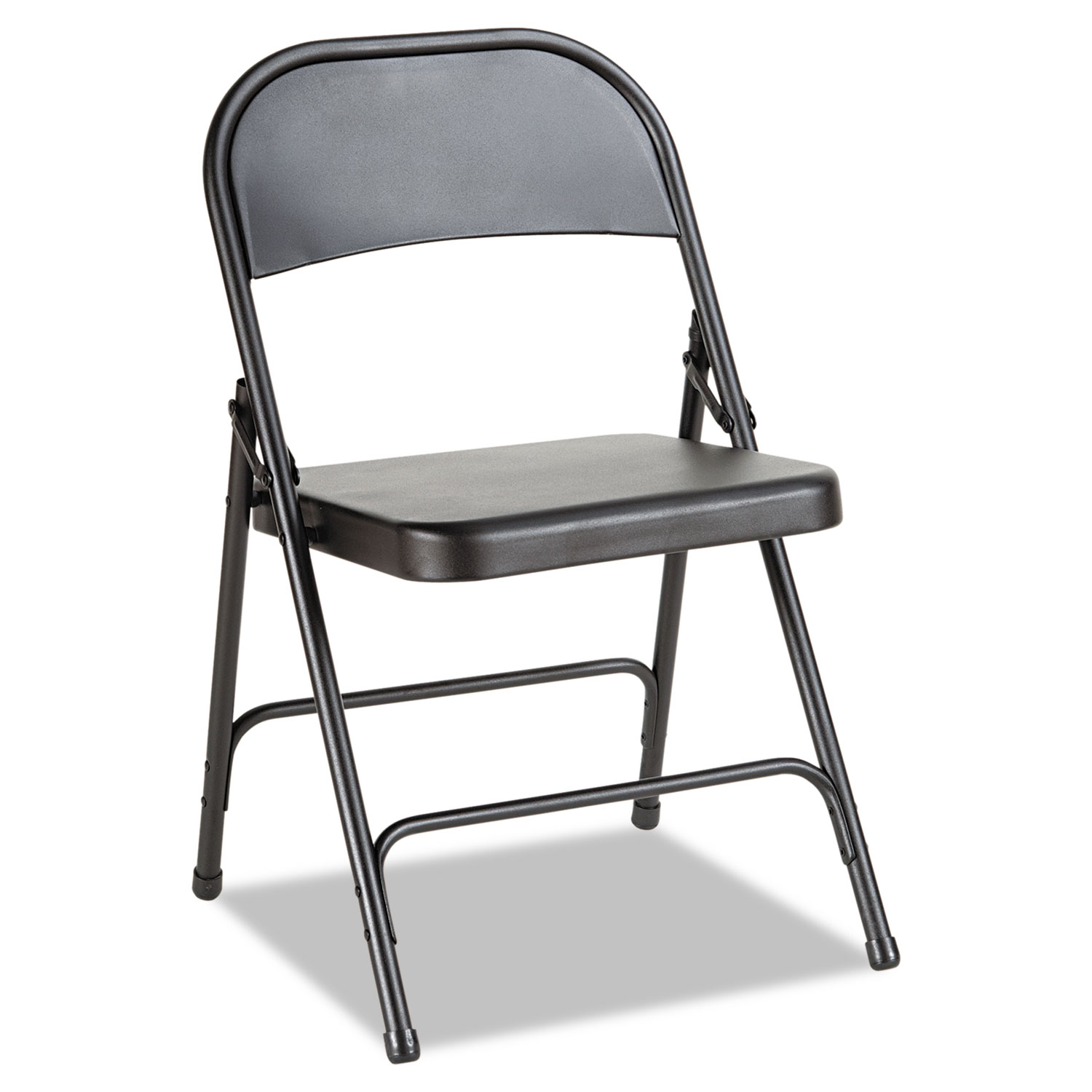 Awe Inspiring Steel Folding Chair With Two Brace Support Graphite Seat Graphite Back Graphite Base 4 Carton Theyellowbook Wood Chair Design Ideas Theyellowbookinfo