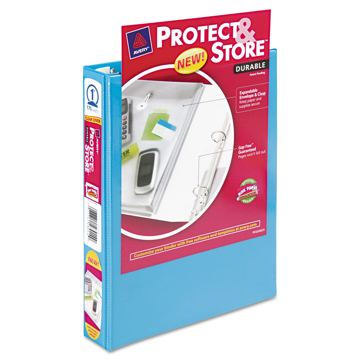 mini protect store view binder w round rings by avery ave23014