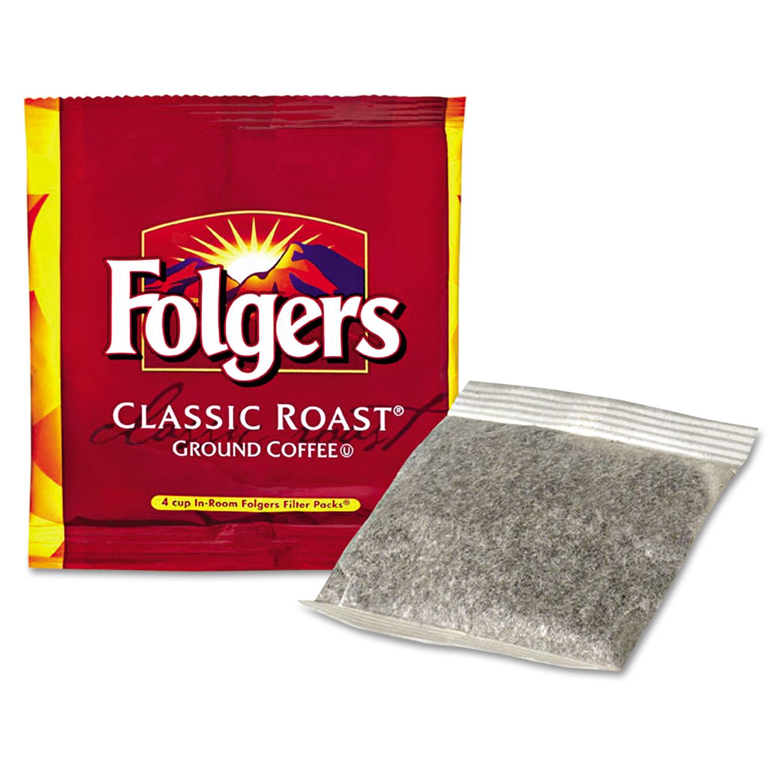 Coffee Filter Packs, Regular, In-Room Lodging, .6oz, 200/Carton