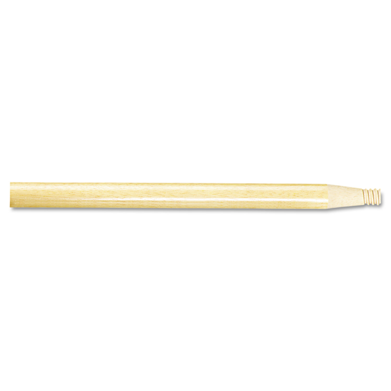 "Threaded End Broom Handle, 15/16"" x 60"", Natural Wood"
