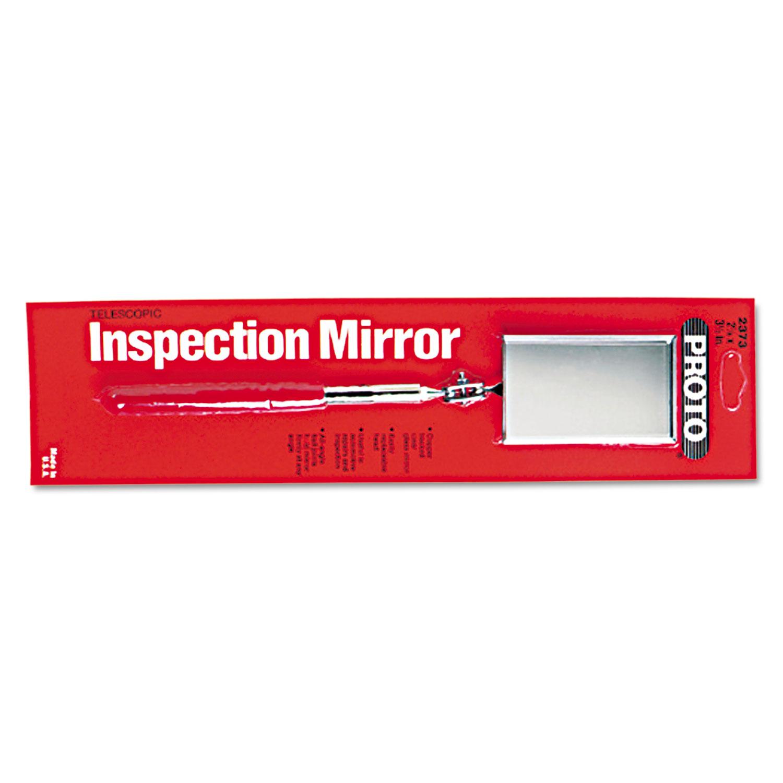 Inspection Mirror, 2 1/8 x 3 1/2, Rectangular