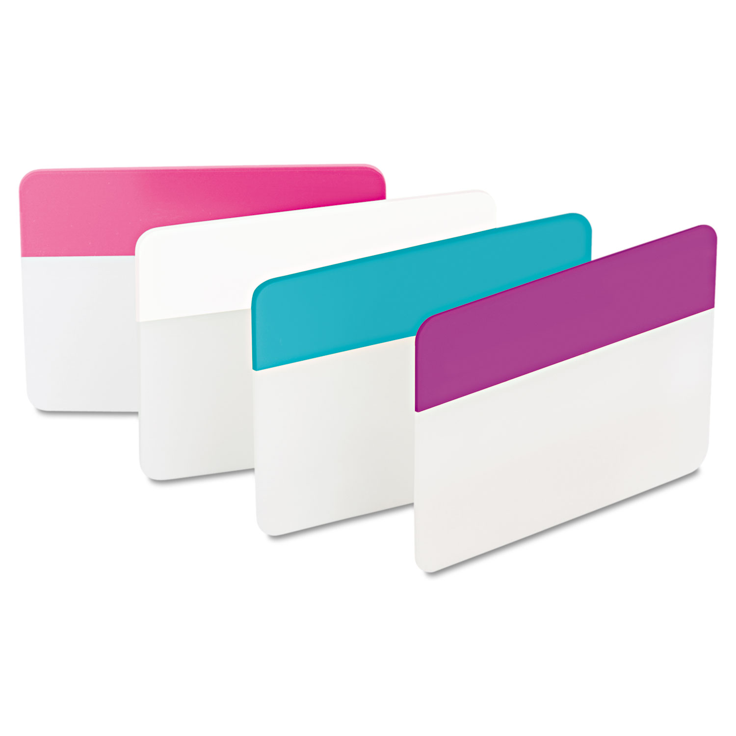 """2"""" and 3"""" Tabs, 1/5-Cut Tabs, Assorted Pastels, 2"""" Wide, 24/Pack"""