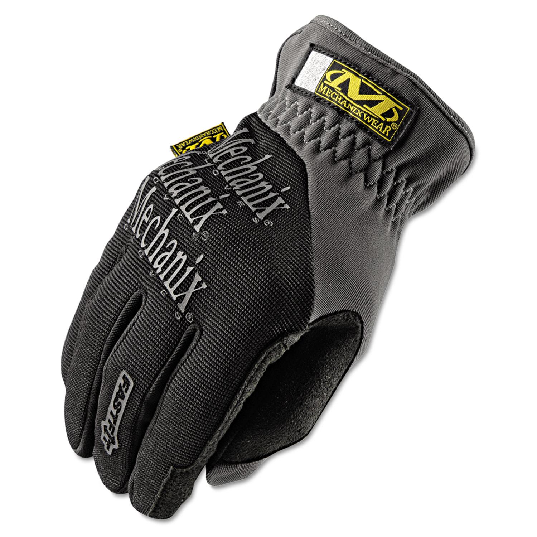 FastFit Work Gloves, Black, Medium