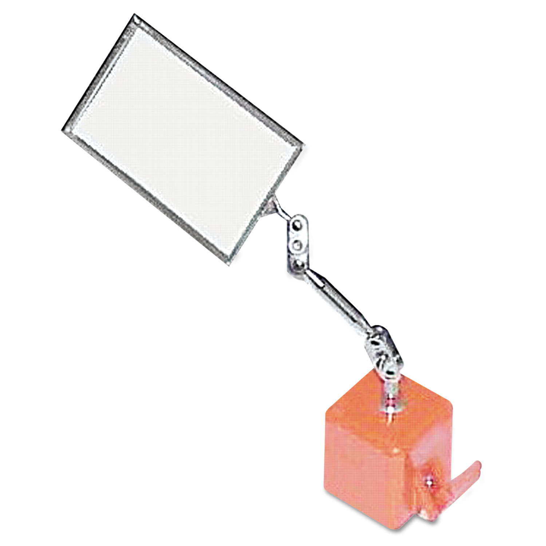 Heavy Duty Inspection Mirror, 2 1/8 x 3 1/2, Magnetic Base