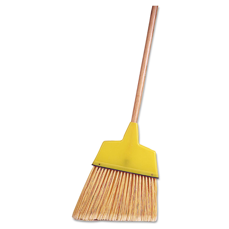 Angle Broom, Flagged Plastic Bristles, 7-1/2 - 6 Bristles, 54 Length