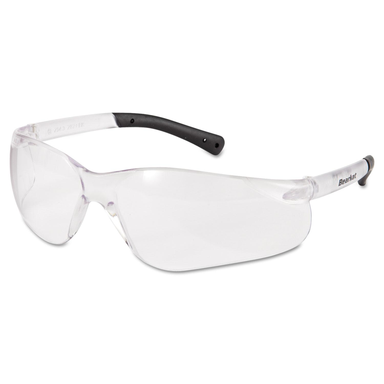 BearKat Safety Glasses, Frost Frame, Clear Lens