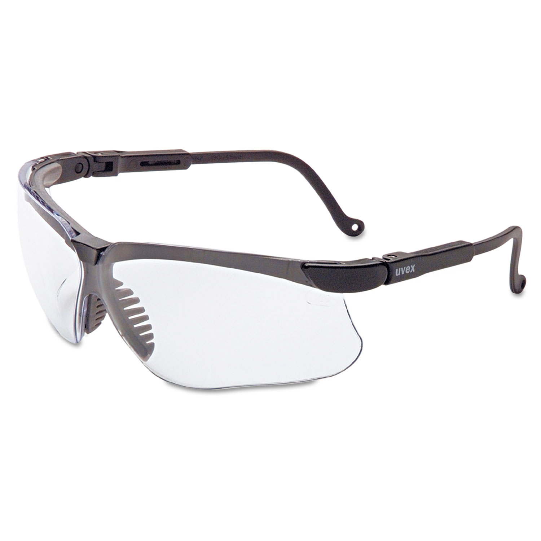 Genesis Safety Eyewear, Black Frame, Clear Lens