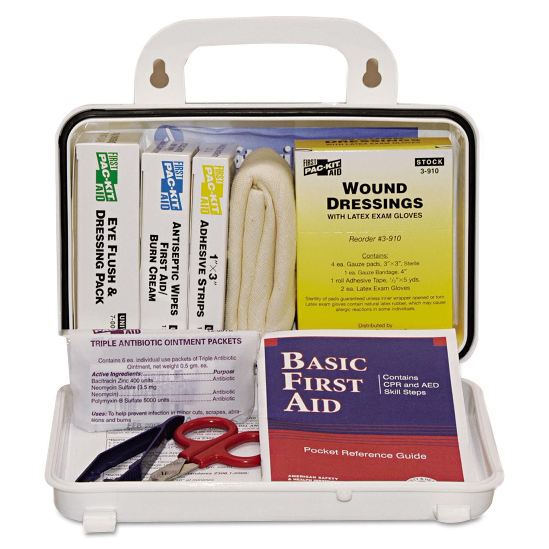 ANSI Plus #10 Weatherproof First Aid Kit, 76-Pieces, Plastic Case