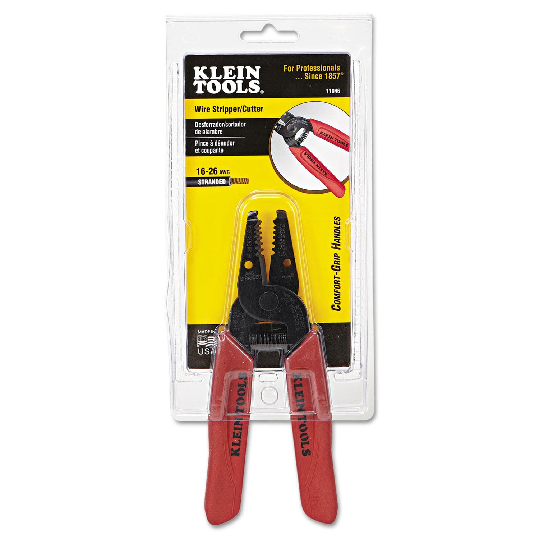 Wire Stripper/Cutter by Klein Tools® KLN11046 - OnTimeSupplies.com