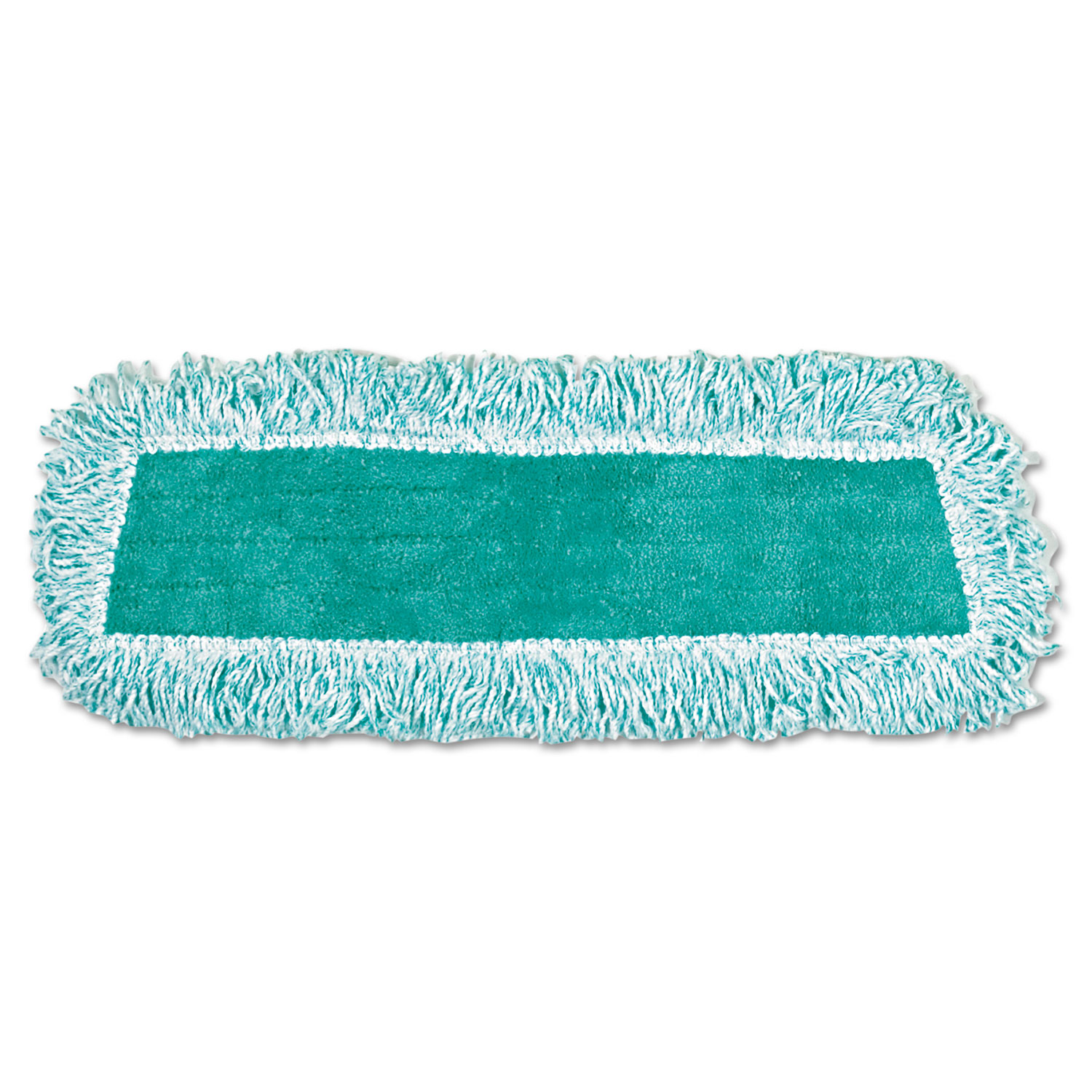 Standard Microfiber Dust Mop With Fringe, Cut-End, 18 x 5, Green