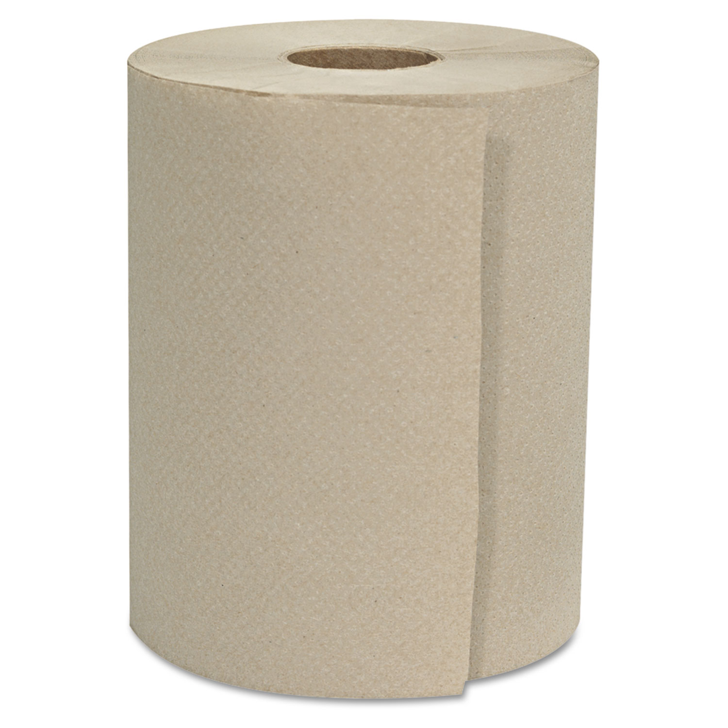 """Hardwound Roll Towels, 1-Ply, Natural, 8"""" x 800 ft, 6 Rolls/Carton"""