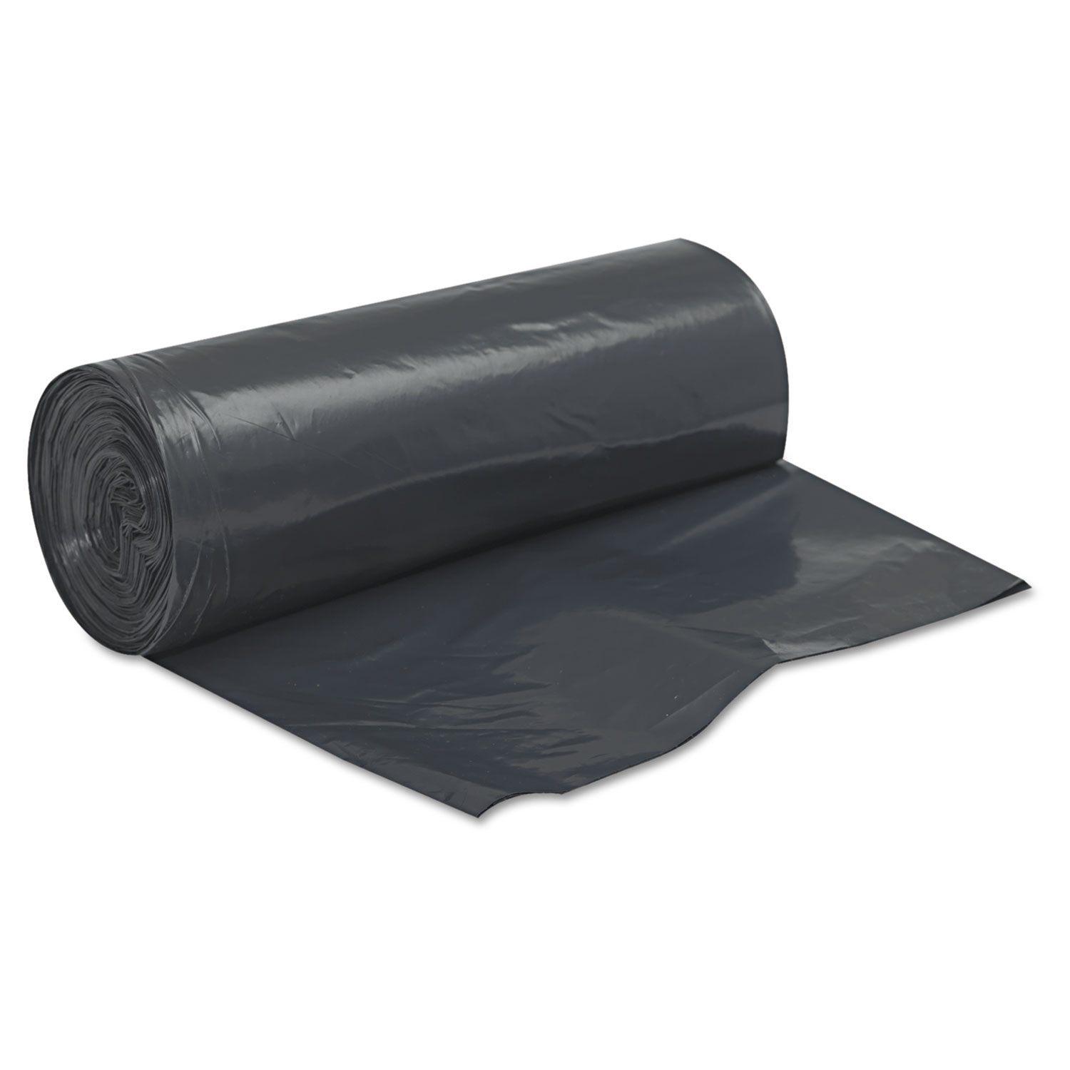 "Linear Low Density Can Liners, 60 gal, 2 mil, 38"" x 58"", Black, 100/Carton"