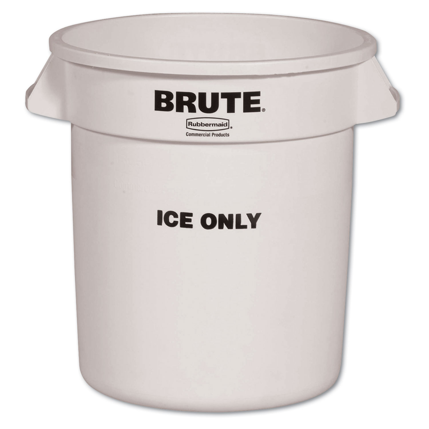 Brute Ice-Only Container, 10gal, White