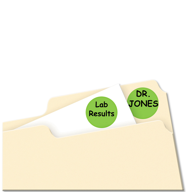Printable Removable Color-Coding Labels, 3/4