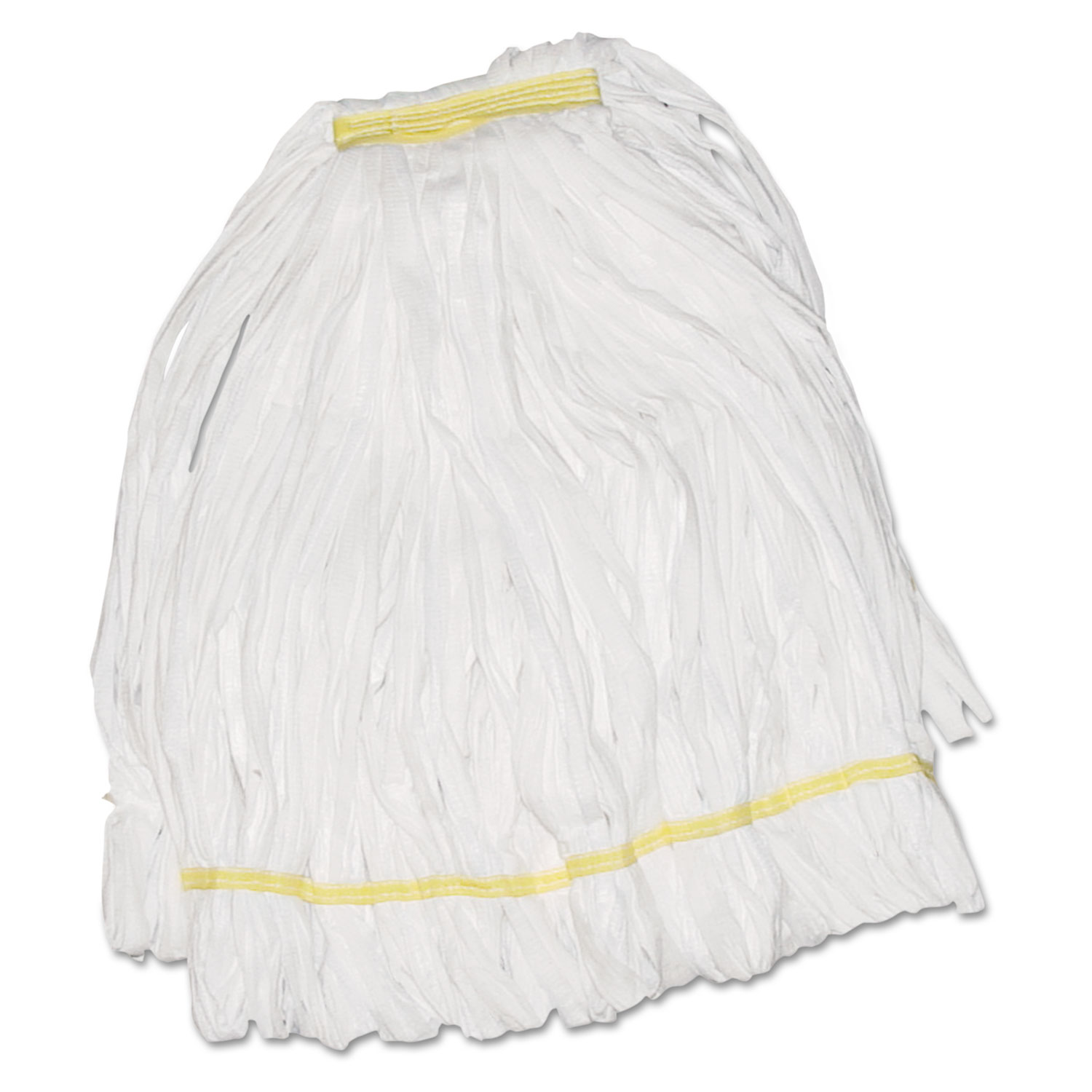 Mop Head, Looped, Enviro Clean With Tailband, Large, White, 12/Carton