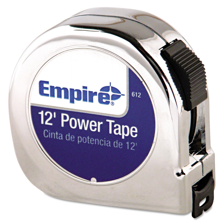 "Power Tape Measure, 5/8"" x 12ft, Black Case"