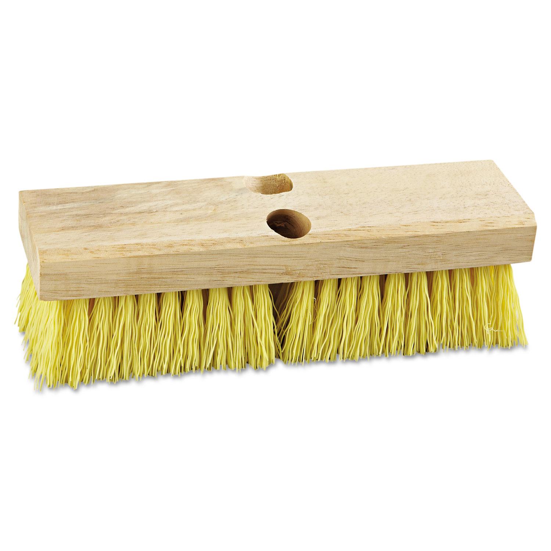 "Deck Brush Head, 10"" Wide, Polypropylene Bristles"