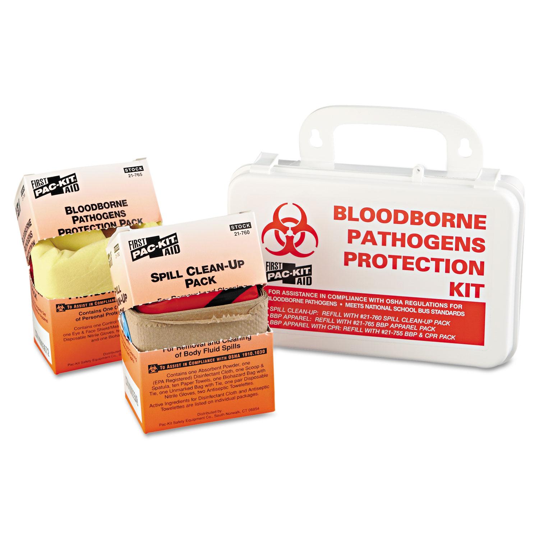 Small Industrial Bloodborne Pathogen Kit, Plastic Case, 4 5