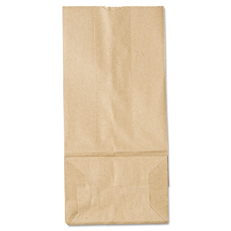 "Grocery Paper Bags, 35 lbs Capacity, #5, 5.25""w x 3.44""d x 10.94""h, Kraft, 500 Bags BAGGK5500"