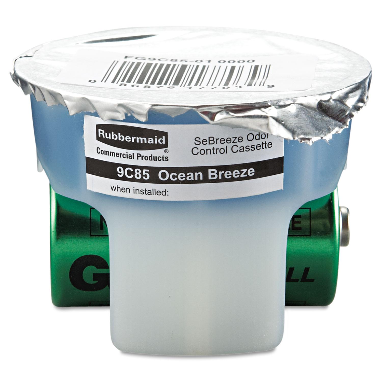 SeBreeze Fragrance Cassette, Ocean Breeze, 1.25 oz 6/Carton