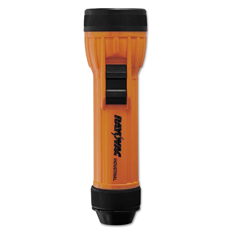 Safety Flashlight, 2 D Batteries (Sold Separately), Orange/Black
