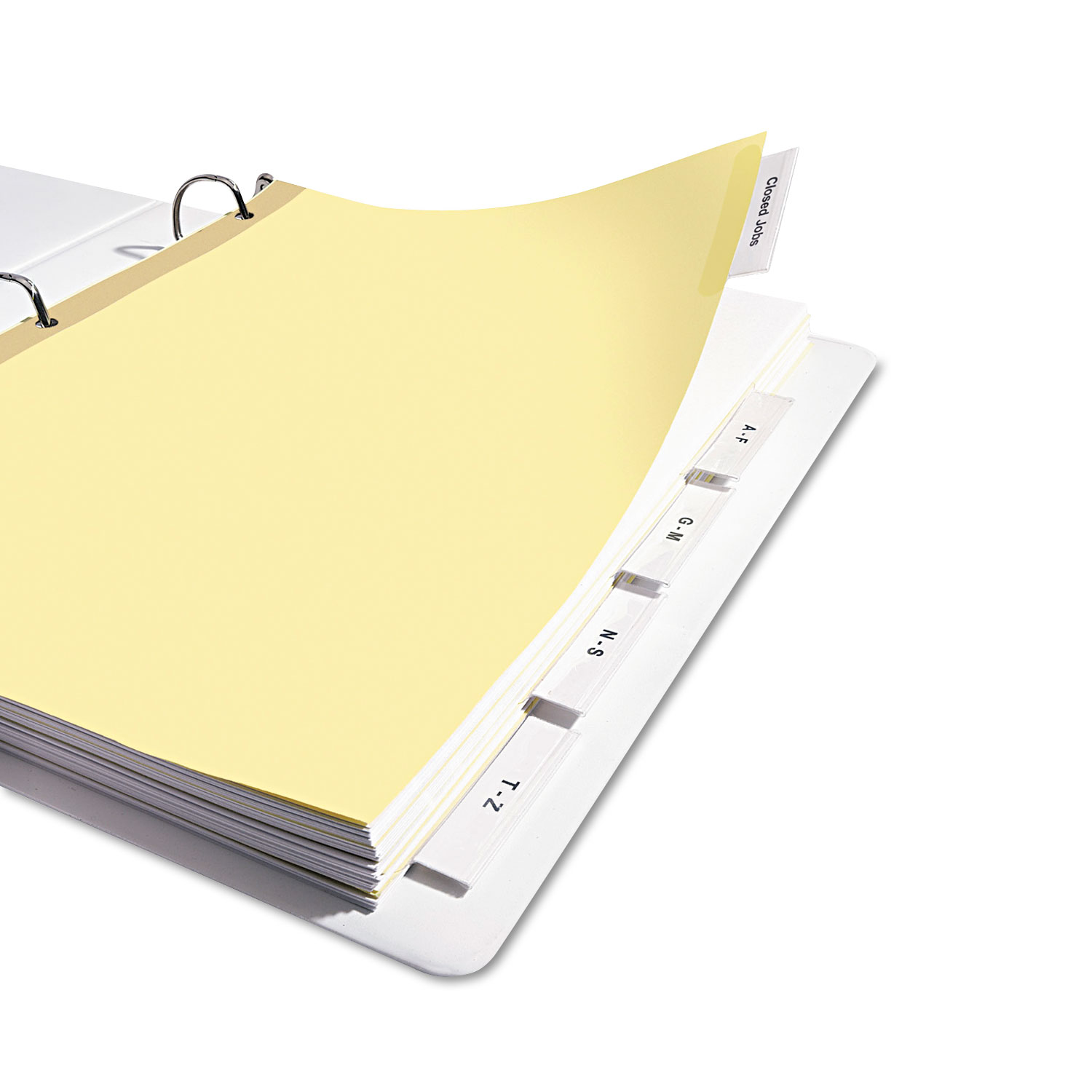 Insertable Big Tab Dividers, 5-Tab, Letter - Alphapointe