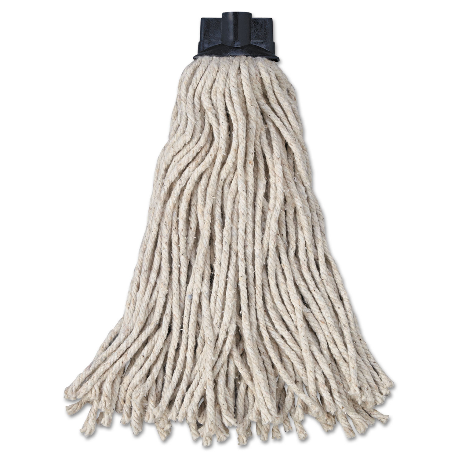 Replacement Mop Head For Mop/Handle Combo, Cotton, White, 12/Carton RCPG04300