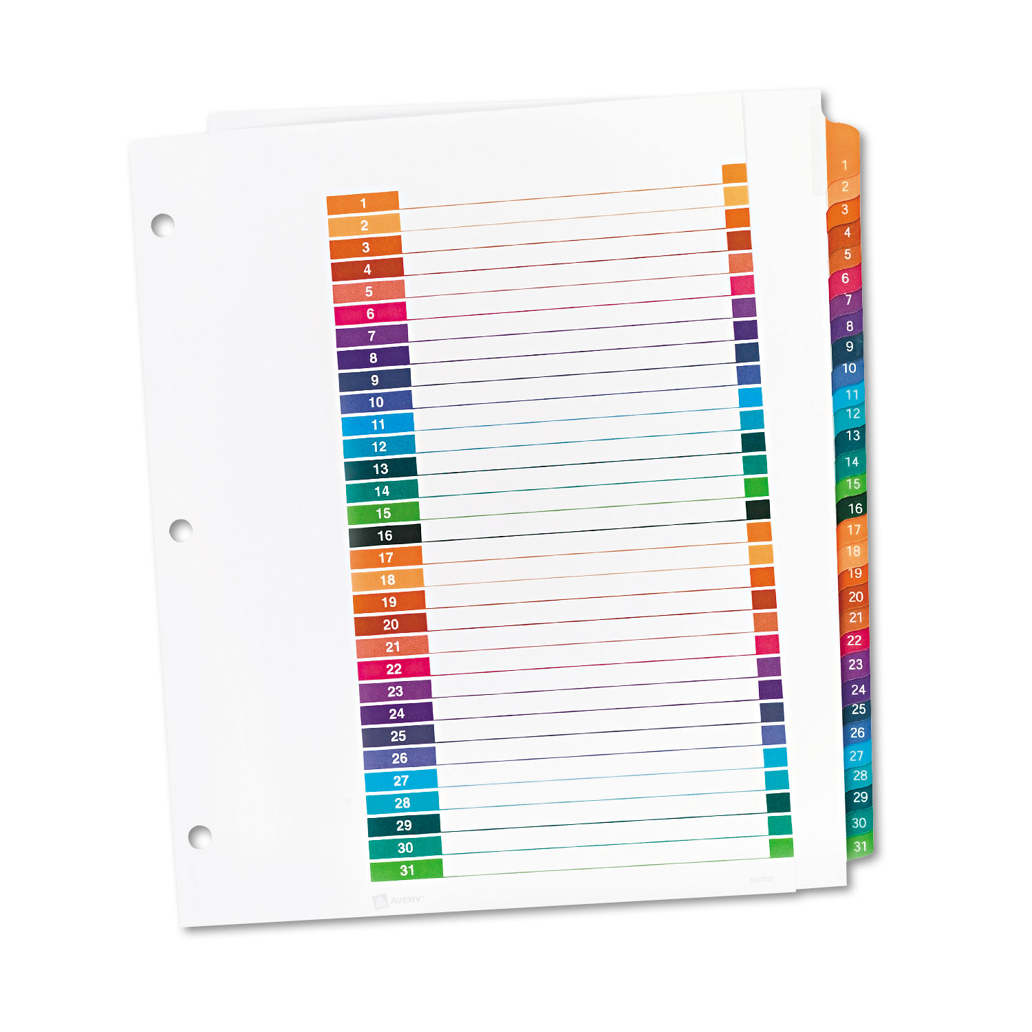 Ready index customizable table of contents multicolor for Avery index tabs template