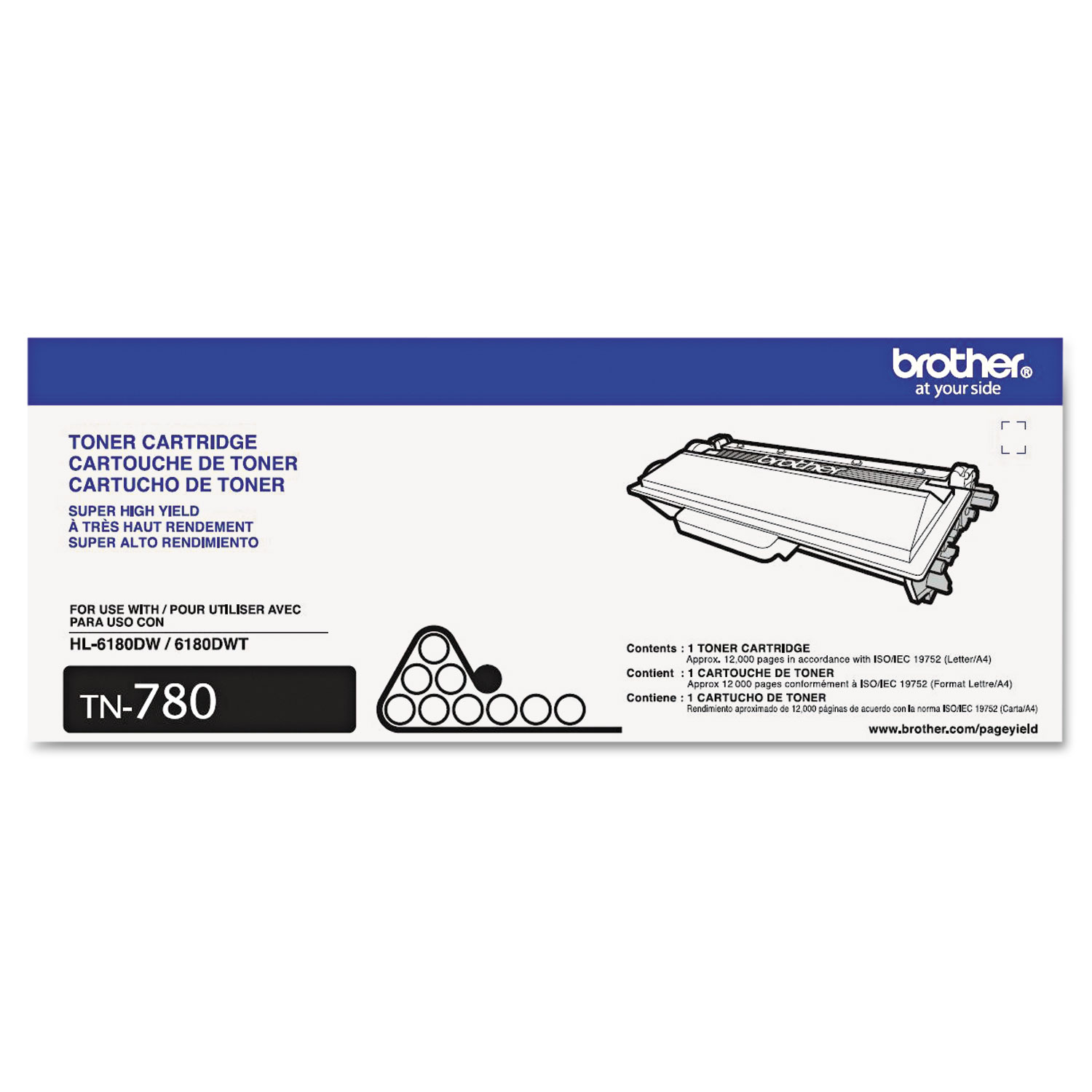 TN780 Super High-Yield Toner, 12000 Page-Yield, Black
